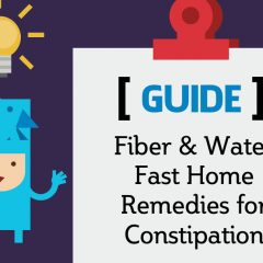 Fiber & Water Fast Home Remedies for Constipation