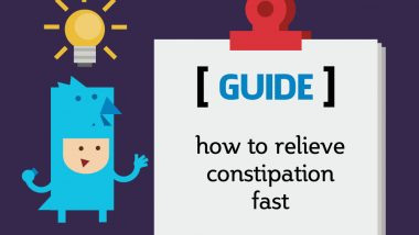 how to relieve constipation fast